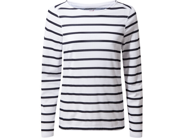 Craghoppers NosiLife Erin Long Sleeved Top Dame blue navy/optic white stripe